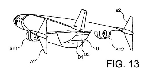 Diagram of new supersonic aircraft