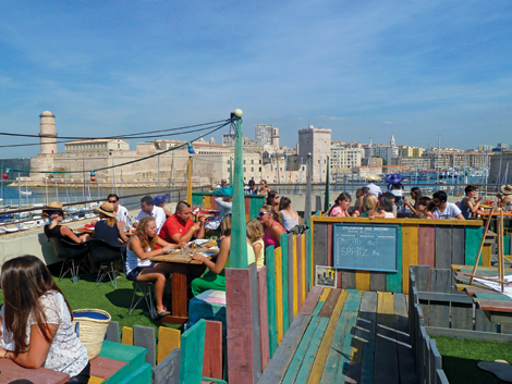 Rowing Club roof terrace, Marseille ©JennySouthan