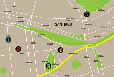 Santiago map