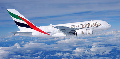 Emirates A380 Ryder Cup competition