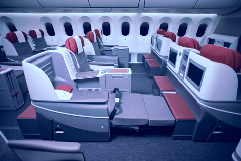 LAN business class on B787-9