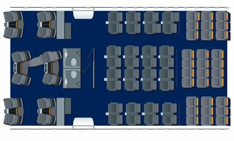 Lufthansa B747-8 seat map