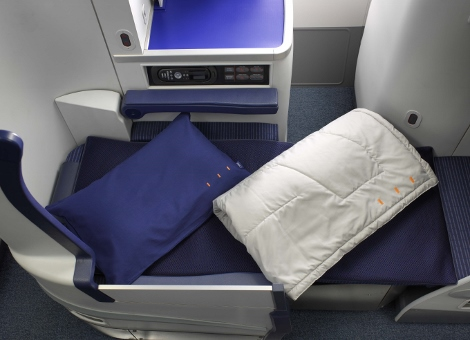 ANA business class sleeping 1