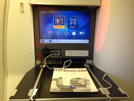 ANA Business Class Table extended