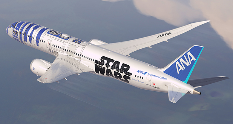 ANA Star Wars livery back