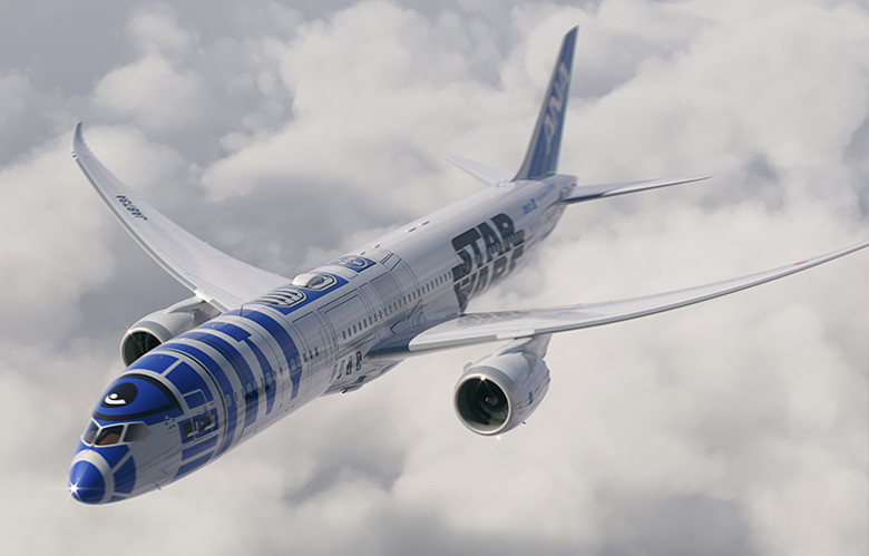 ANA Star Wars livery nose