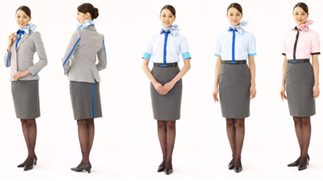ANA uniforms cabin attendant female