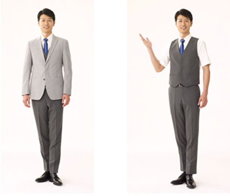 ANA uniforms cabin attendant male