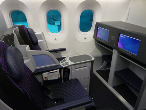 Business class seats at Aeromexico