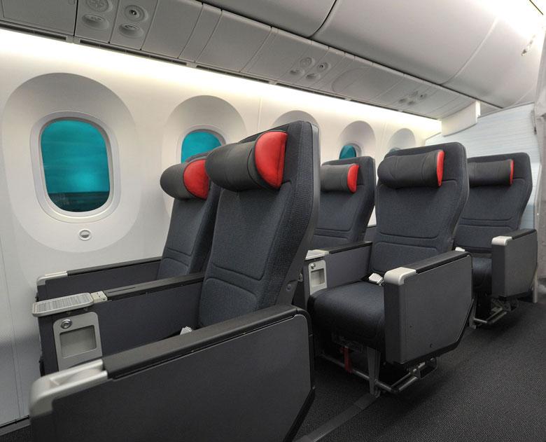 Air Canada Premium Economy cabin