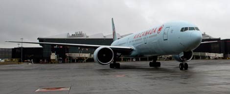 First Air Canada arrives at LHR T2