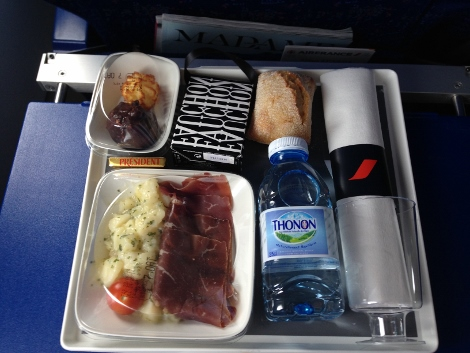 Air France short-haul business class meal