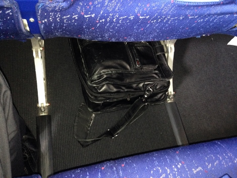 Air France bag stowage