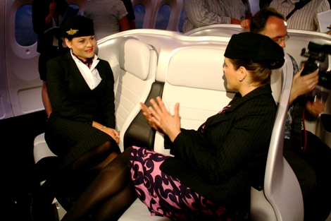 Air New Zealand cabin crew with new uniforms