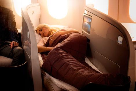 Boeing 787-9 Business Premier lie-flat bed