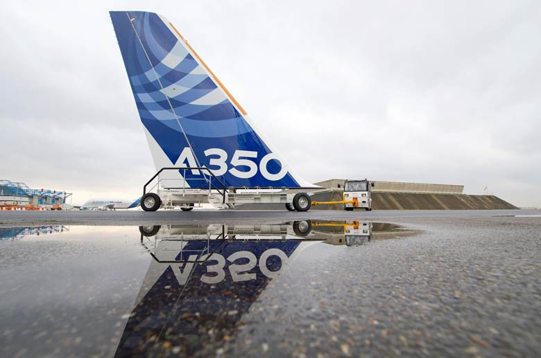 A350 tailfin rollout