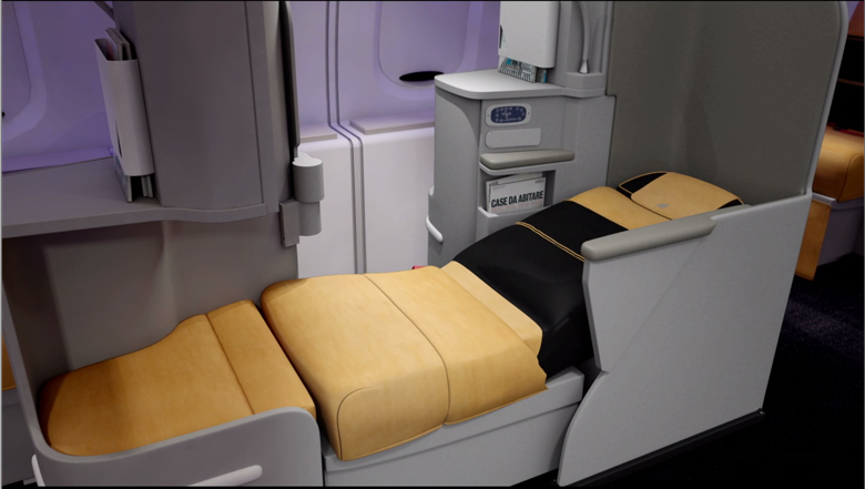 Alitalia new business seat bed flat