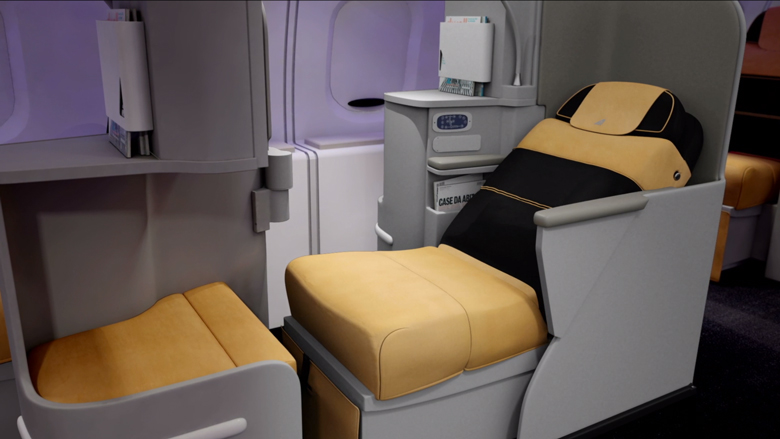 Alitalia new business seat recline