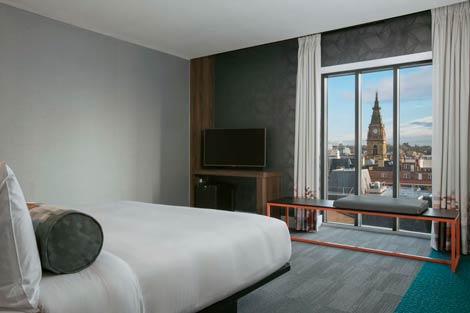 Aloft Liverpool bedroom