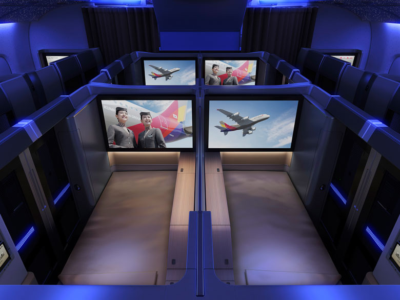 Asiana A380 first class couple seat