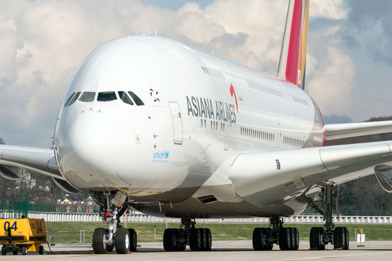 Asiana A380 is rolled out at Toulouse