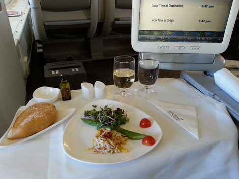 Asiana Airlines crab salad