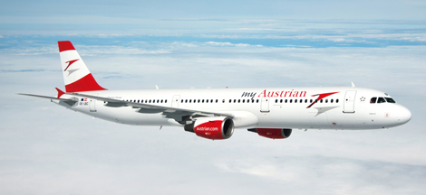 Austrian A321 in new livery