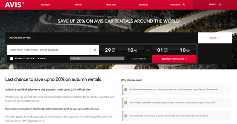 Avis Autumn Sale