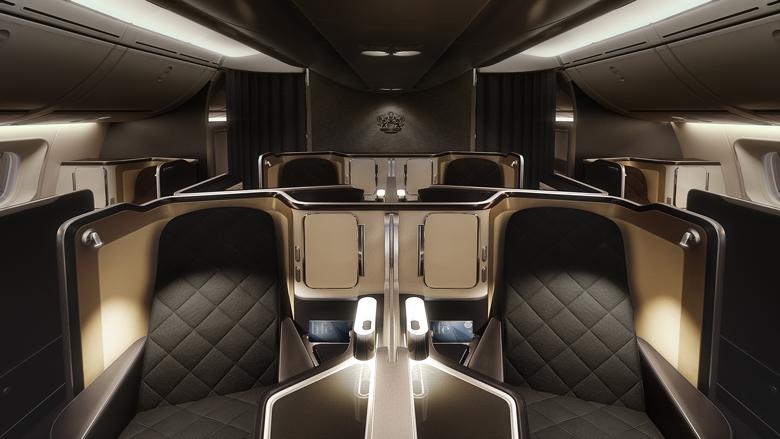 BA B787-9 first class