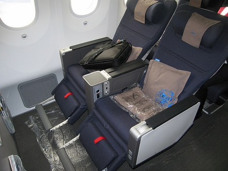British Airways B787 Dreamliner World Traveller Plus