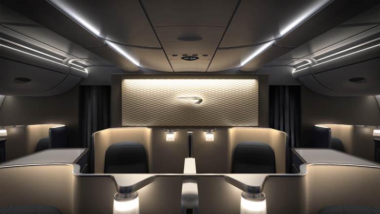 BA A380 Club World cabin