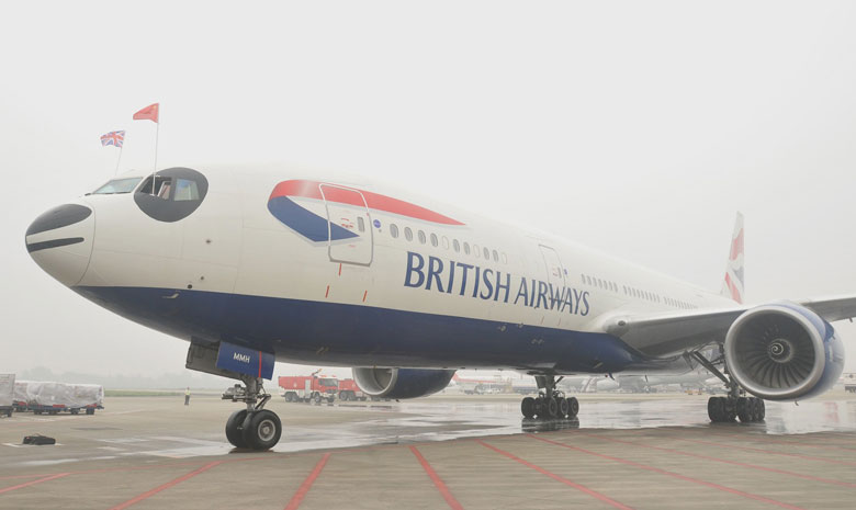 BA\\\\'s inaugural Chengdu flight