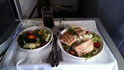 BA Club World chicken salad
