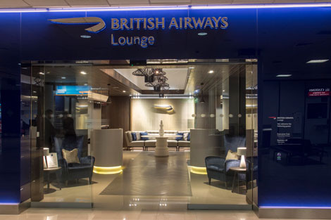 BA Edinburgh lounge