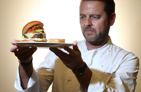 BA chef Mark Tazzioli and the new Flying Burger