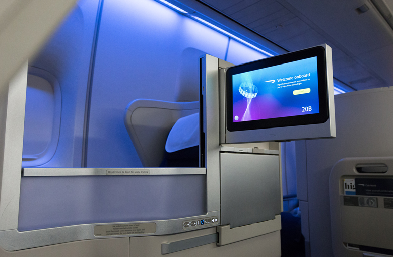BA refreshed B747 Club World seat