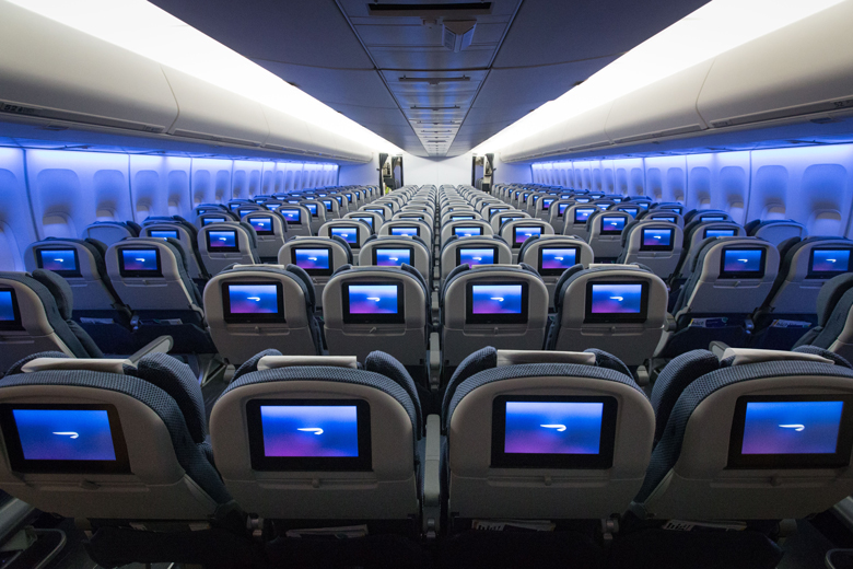 BA refreshed B747 World Traveller cabin