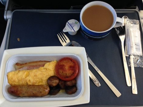 BA short-haul food — hot