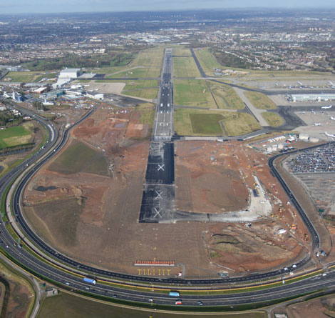 Birmingham Airport runway