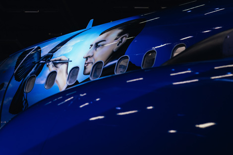 Brussels Airlines Magritte livery