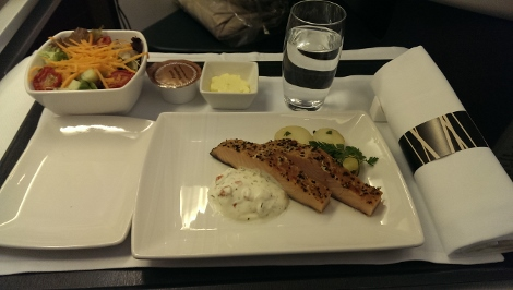 Cathay Pacific business class starter