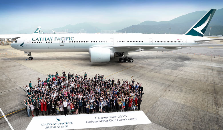 Cathay Pacific new livery