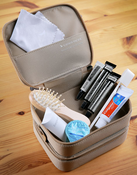Stackable: First class female amenity kit