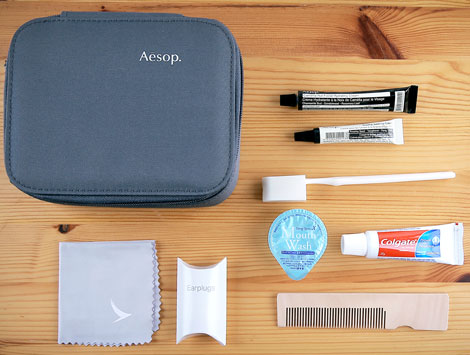 First class male amenity kit