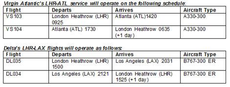 LHR-ATL schedule