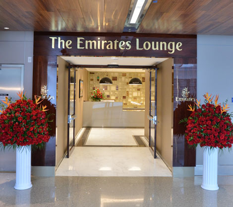 Emirates LAX lounge entrance