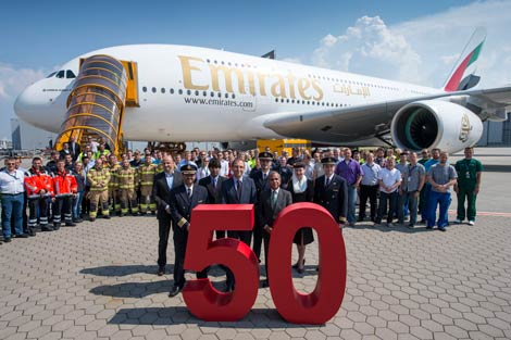 Emirates receives 50th A380