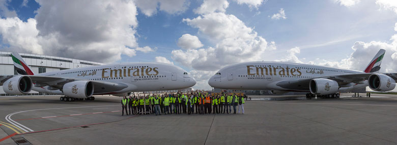 Emirates receives its 46th and 47th A380s