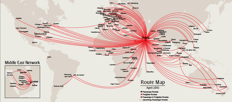 Emirates Route Map My Blog Us Flight Path Map
