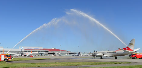 Etihad Regional flight arrives in Toulouse